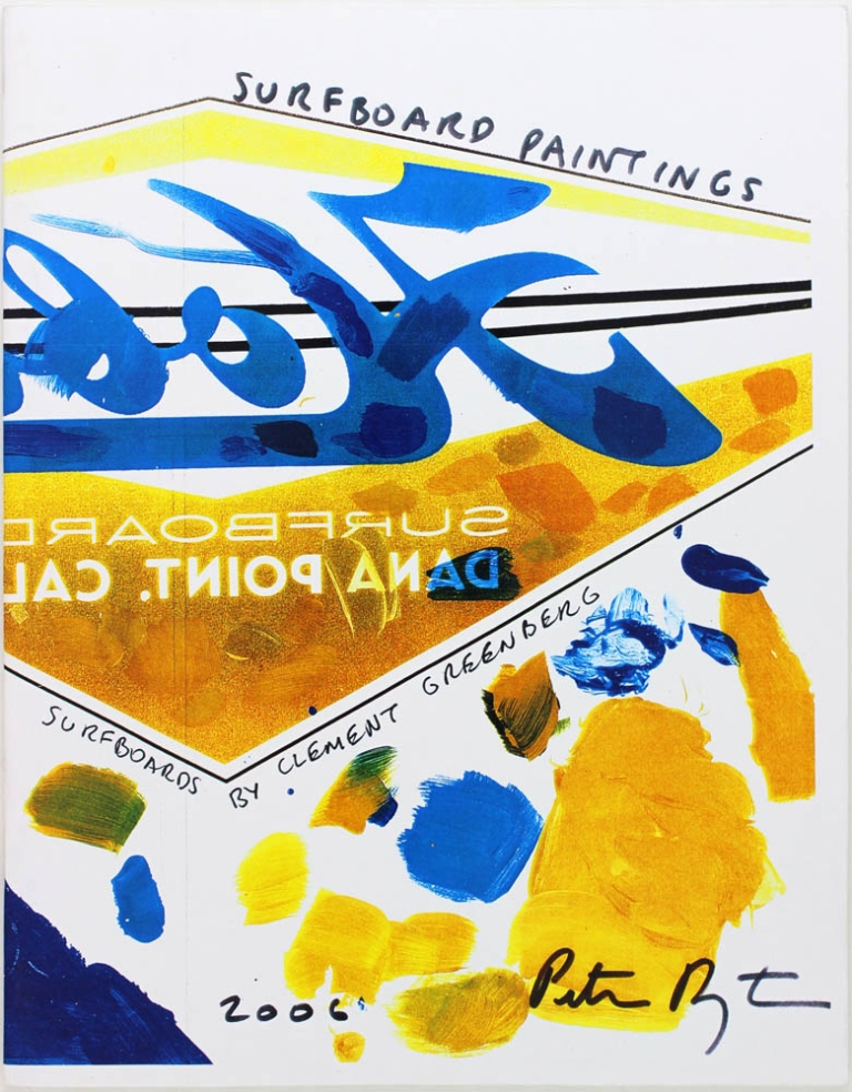 [Surfboard Paintings] Surfboards by Clement Greenberg. Peter Dayton.