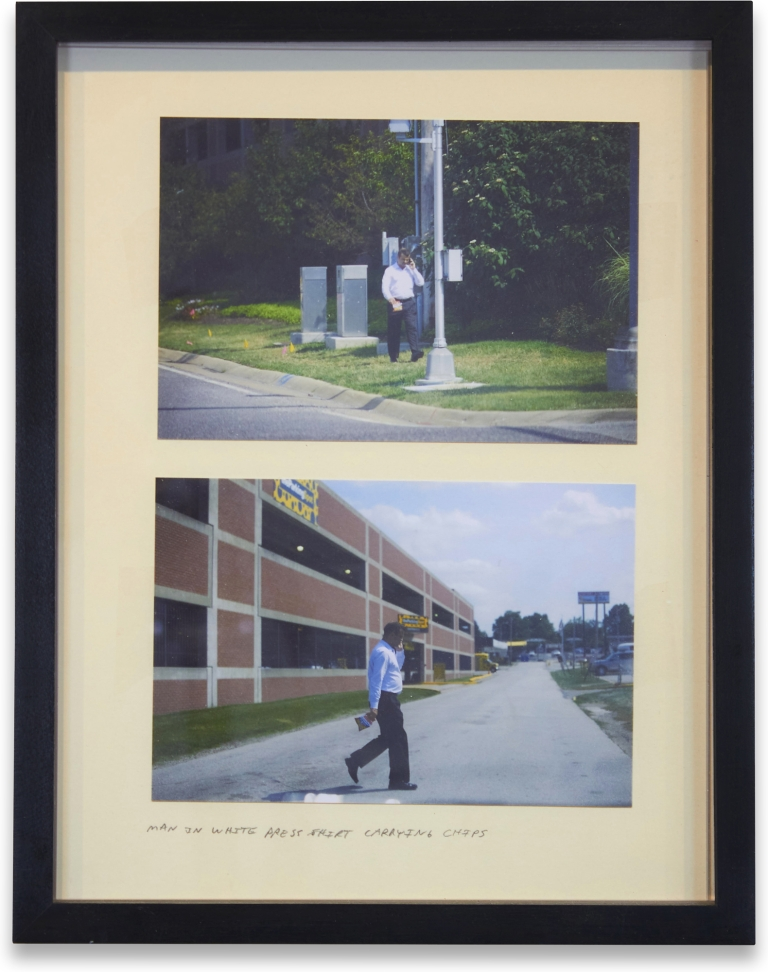 Man in White Press Shirt Carrying Chips. Alec Soth.