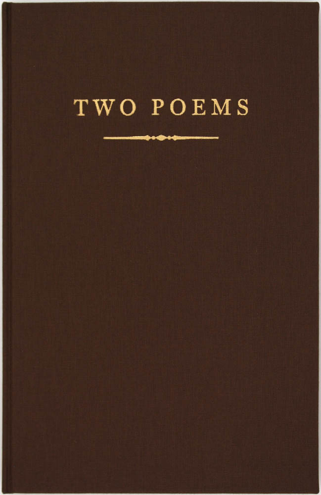 Two Poems (Signed First Edition). Richard Howard.