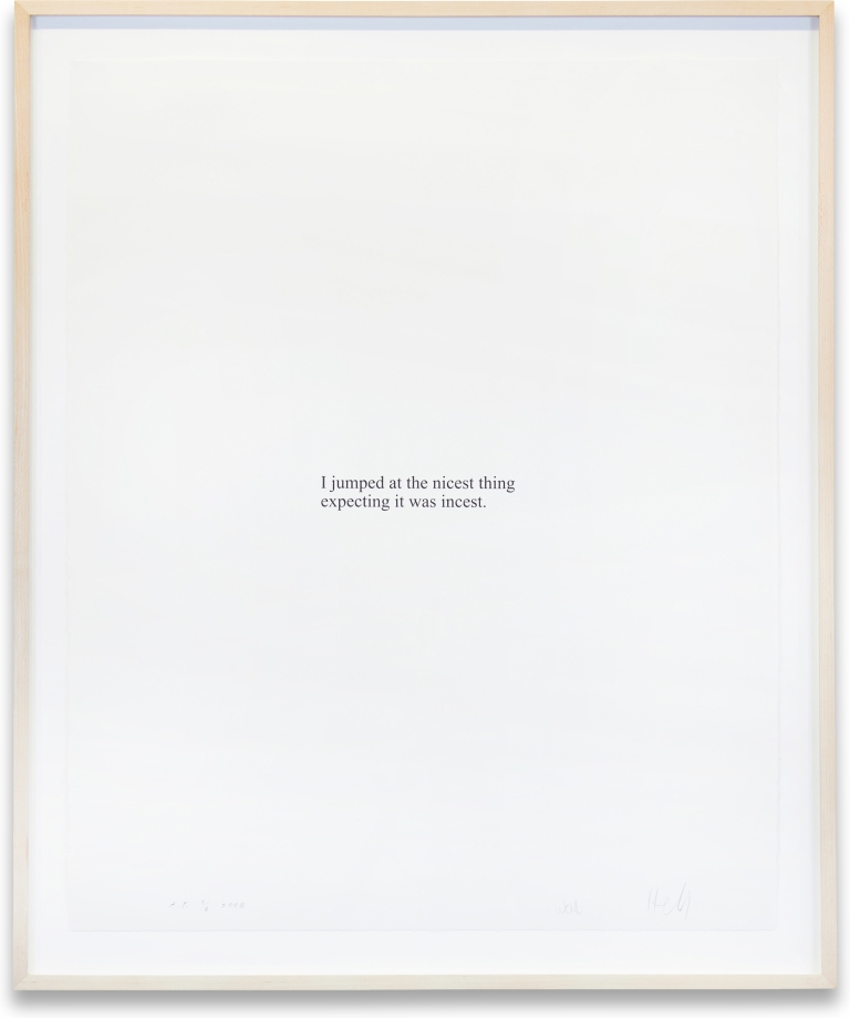 Untitled Print from Psychopts (Nicest Thing). Christopher Wool, Richard Hell.