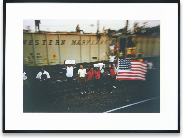 Untitled Print from RFK Funeral Train. Paul Fusco.
