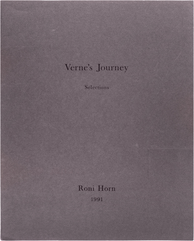 Verne's Journey, Selections. Roni Horn.