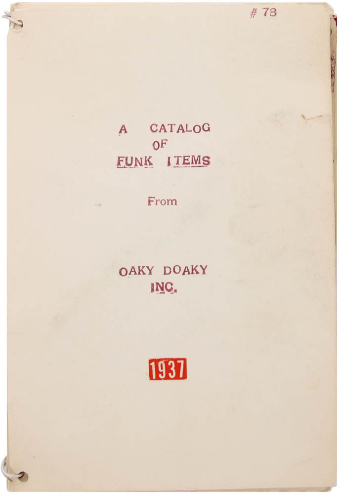 A Catalog of Funk Items (and Original Duplicates) with Macks Auto Repair, 908 Southport Ave., Inc. Booklett, 1964. Unknown Artists' Books.