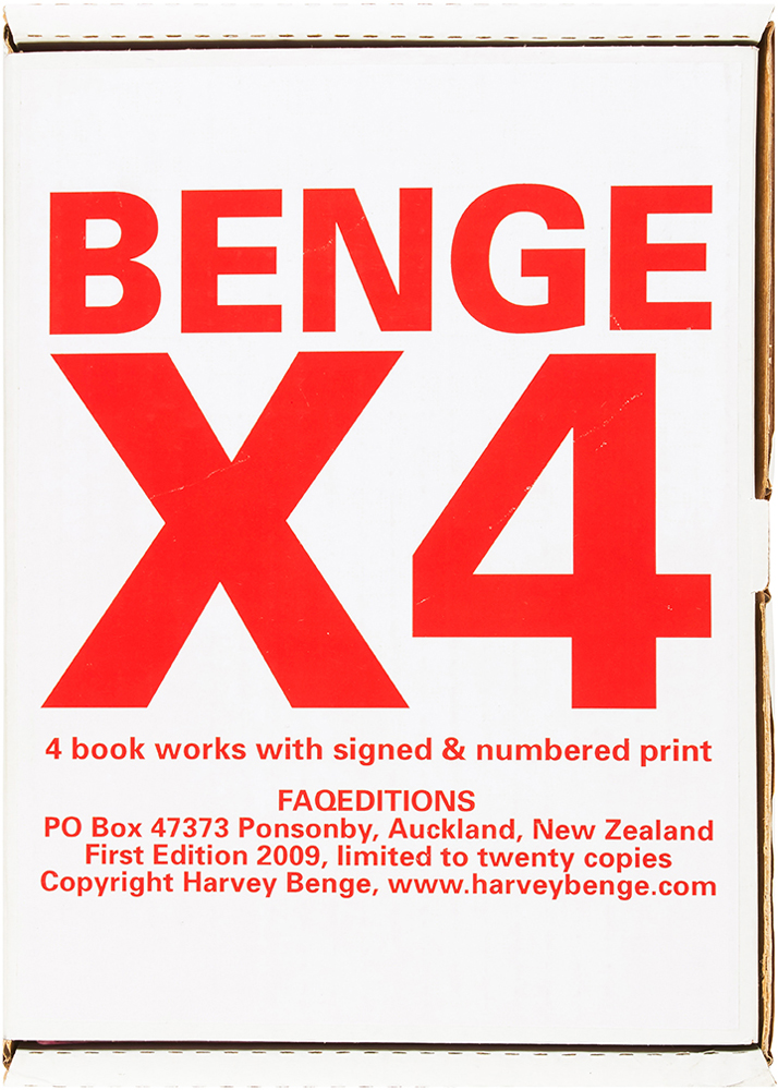 X4 (Signed Limited Edition with Print). Harvey Benge.