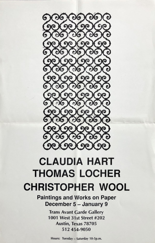 Untitled Poster (Christopher Wool Pattern Painting). Christopher Wool, Claudia Hart, Thomas Locher.