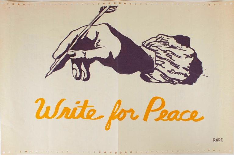 Write for Peace (poster). Anonymous, Rape.