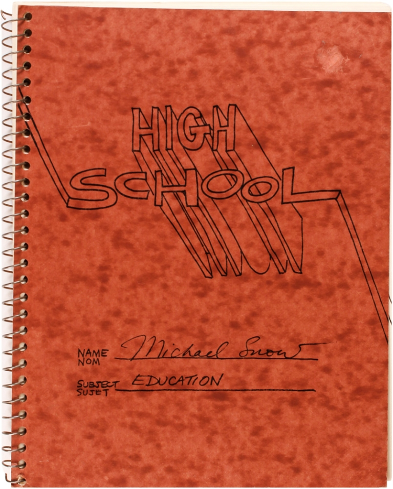 High School. Michael Snow.
