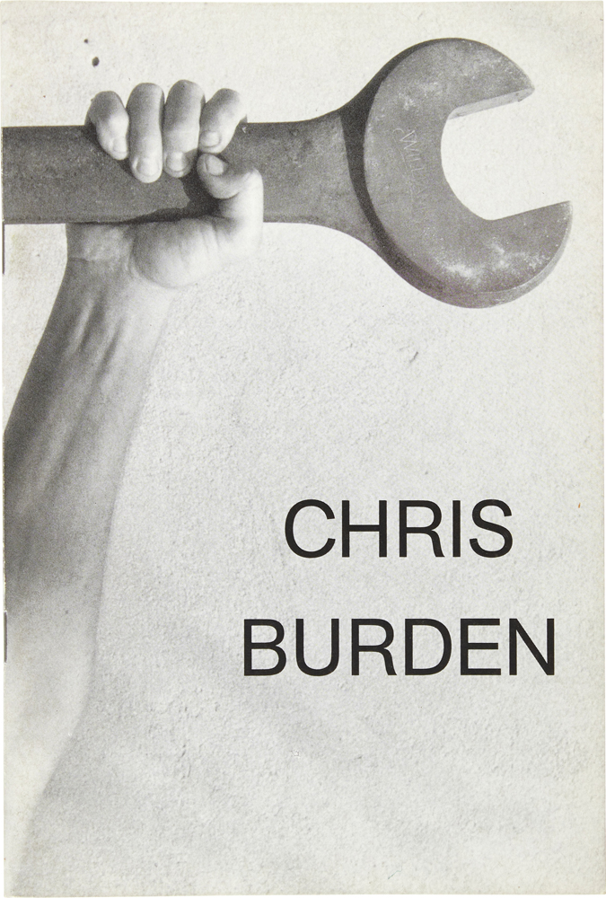 Chris Burden (Signed Artist's Book with Drawing). Chris Burden.