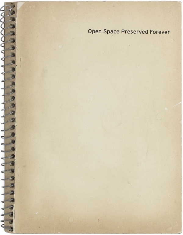 Open Space Preserved Forever. Bryan Graf