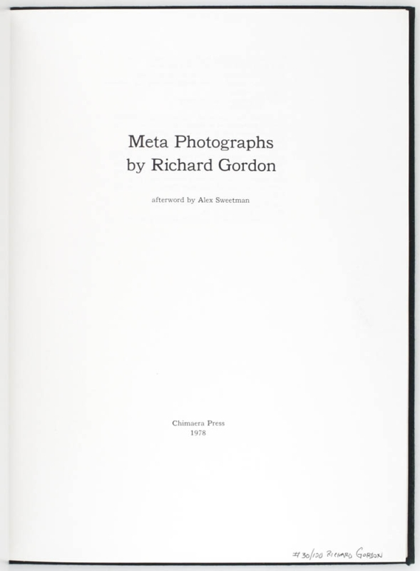 Meta Photographs (Signed Limited Edition with Print).