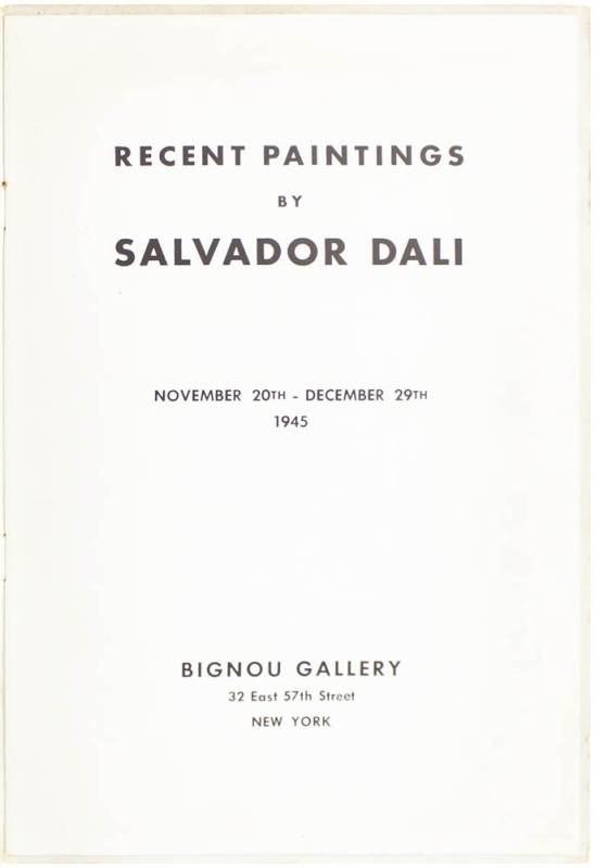 Recent Paintings by Salvador Dalí.