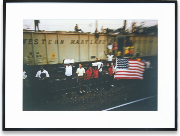 Untitled Print from RFK Funeral Train. Paul Fusco