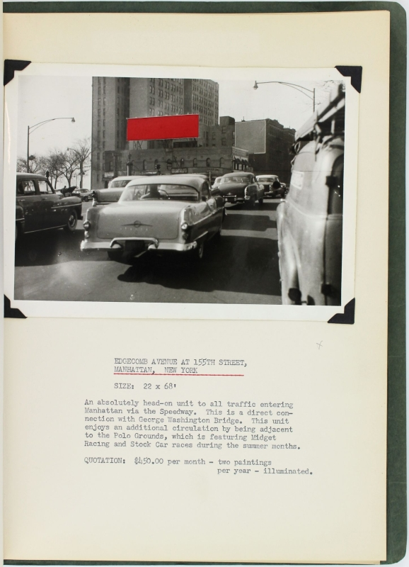 Archive of Original Photographs and Related Material Presented to Budweiser for Potential Billboard Advertisements.