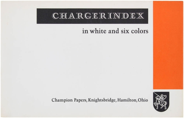 Charger Index in White and Six Colors. Ladislav Sutnar, designer
