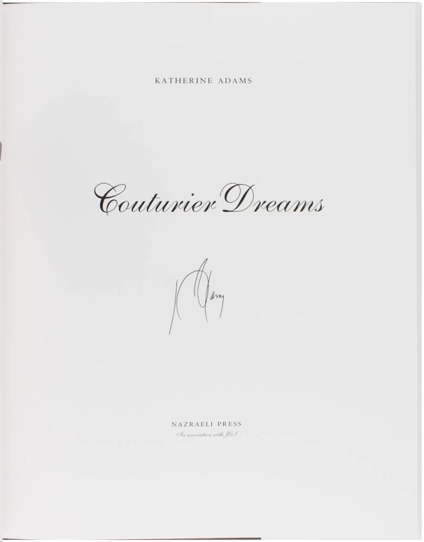 Couturier Dreams (Signed Limited Edition). Katherine Adams