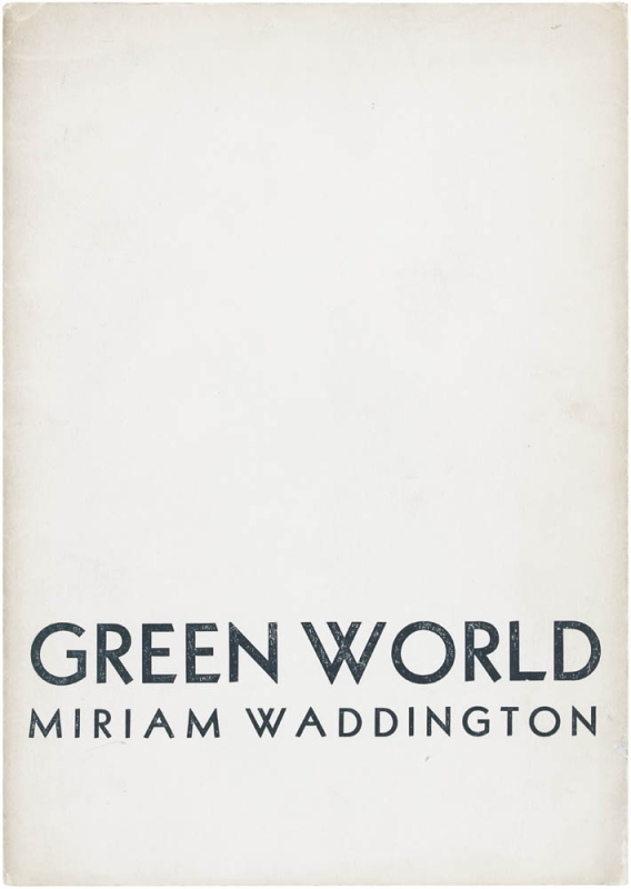 Green World. Miriam Waddington