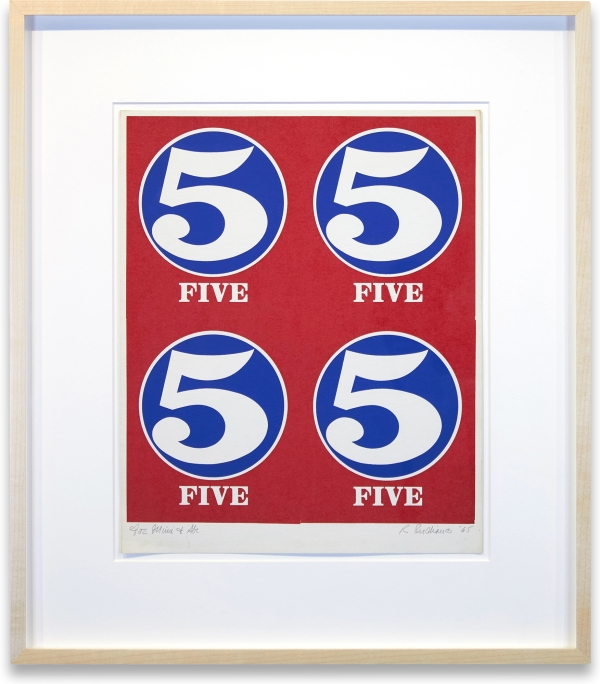 Number 5 (Sheet). Robert Indiana