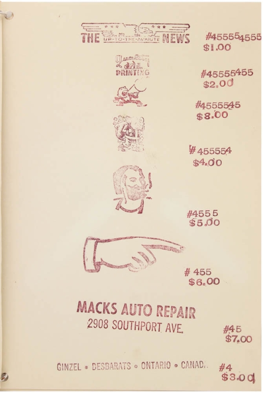 A Catalog of Funk Items (and Original Duplicates) with Macks Auto Repair, 908 Southport Ave., Inc. Booklett, 1964.