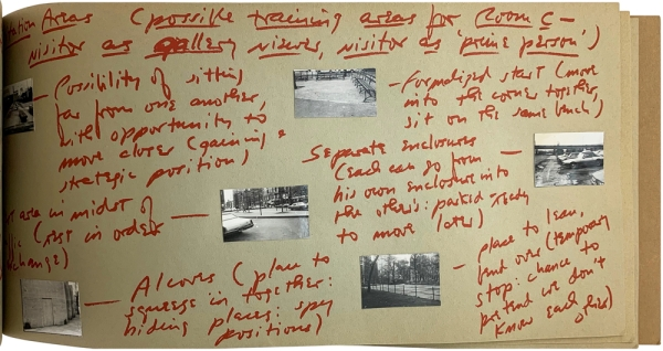 Behavior Fields - Transaction Arenas - Training Grounds - Maneuver Positions: Notes on the Development of a Show (Sonnabend, New York; January 15-29, 1972), Notes Toward Performing a Gallery Space (Signed Limited Edition).