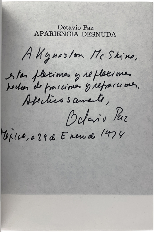 Apariencia Desnuda: La Obra de Marcel Duchamp (Signed Association Copy).