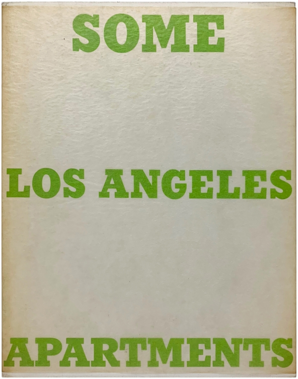 Some Los Angeles Apartments (With Signed Letter). Edward Ruscha