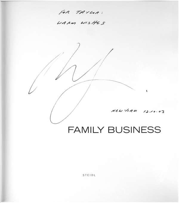 Family Business (Signed First Edition).