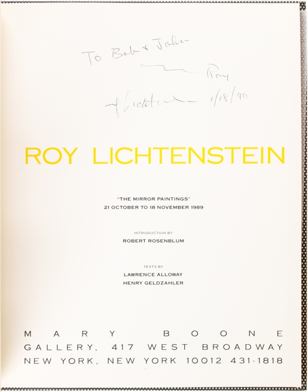 Roy Lichtenstein: The Mirror Paintings (Signed First Edition).