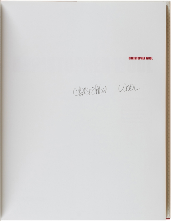 Christopher Wool (Signed First Edition).