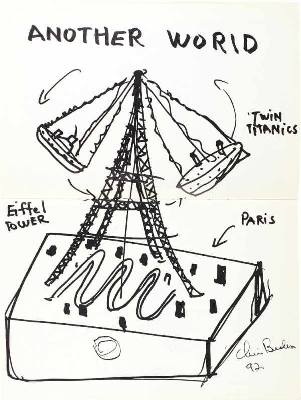 Chris Burden (Signed Artist's Book with Drawing).
