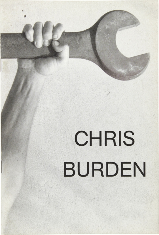 Chris Burden (Signed Artist's Book with Drawing). Chris Burden