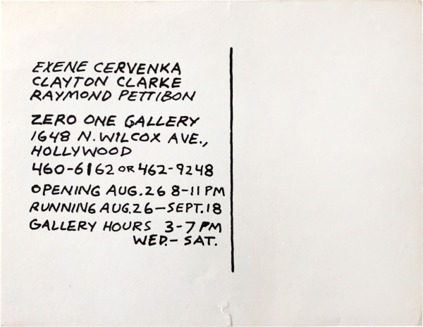 1983 Announcement card (Buy This Paint-ing For $50).