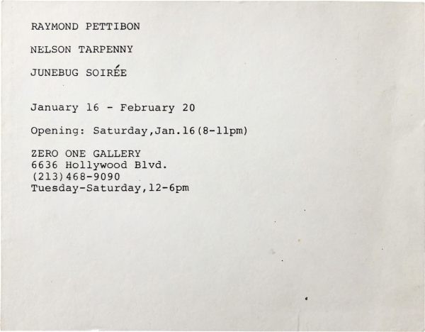 1988 announcement card (And Then It Happened - Clearly - Distictly - Soul-tirringly!).