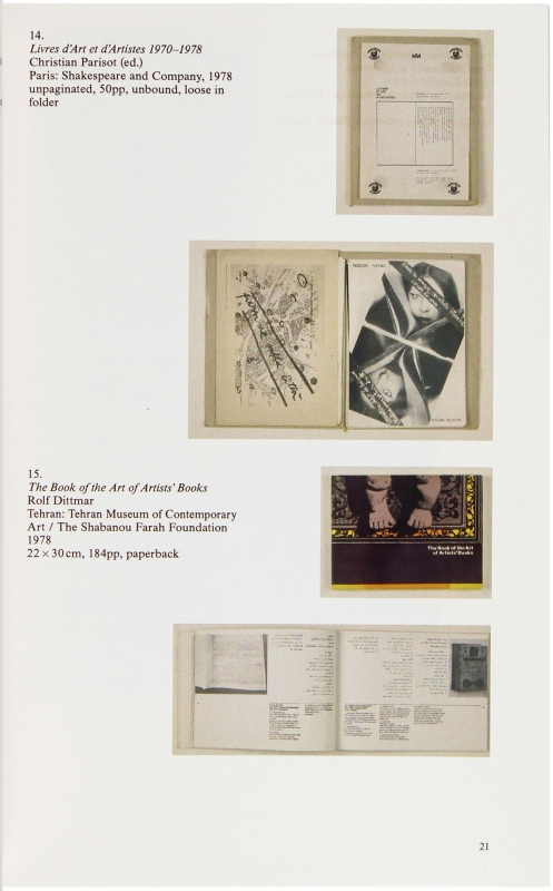 The Book on Books on Artists Books.