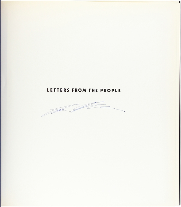 Letters From the People (Signed First Edition).