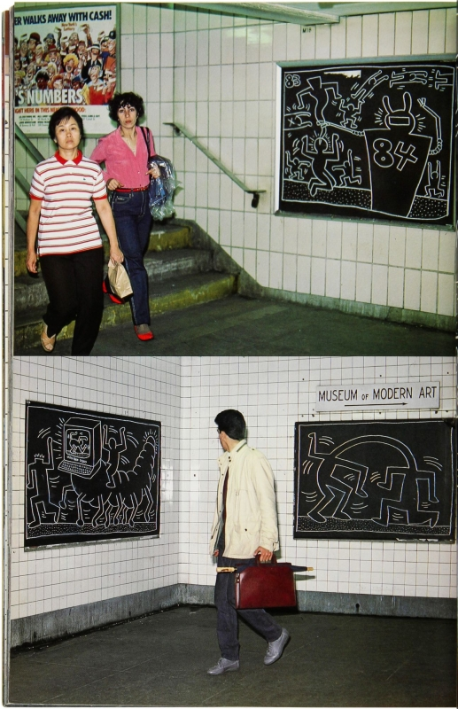 Art in Transit: Subway Drawings by Keith Haring.
